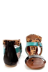 Soda Adam Leopard Multi Buckled T-Strap Thong Sandals at Lulus.com!