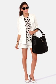 Blazer Tag White Blazer at Lulus.com!