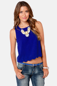 No Time Like the Pleasant Royal Blue Top at Lulus.com!