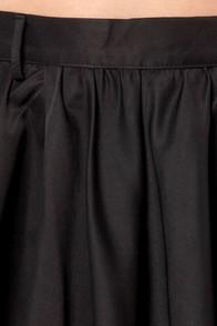 Skate, Nine, Ten Black Vegan Leather Skirt at Lulus.com!