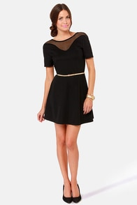 Double Scoop Backless Black Dress at Lulus.com!