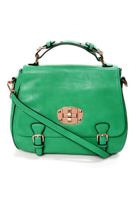 Panache and Carry Green Handbag by Urban Expressions at Lulus.com!