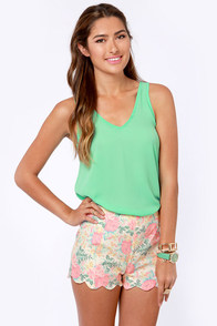 Saturday Cookout Mint Green Tank Top at Lulus.com!