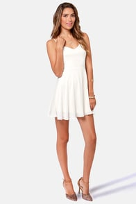Haute Attack Ivory Dress at Lulus.com!