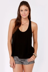 Back to Backless Black Lace Tank Top at Lulus.com!