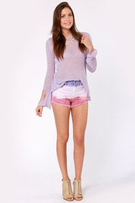 Fade-triotic Holiday Ombre Jean Shorts at Lulus.com!