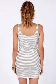 Billabong River Falls Black and Ivory Striped Dress at Lulus.com!