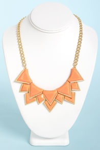 Neck's Best Thing Peach Statement Necklace at Lulus.com!