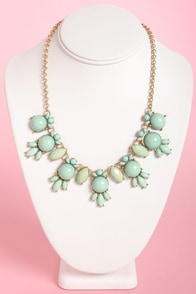 A League of Their Stone Mint Necklace at Lulus.com!