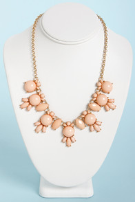 A League of Their Stone Peach Necklace at Lulus.com!