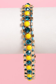 Jewels Verne Rhinestone Friendship Bracelet at Lulus.com!