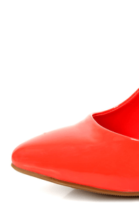 Elly 1 Coral Patent Pointed Pumps at Lulus.com!