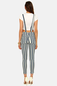 Engineer and Dear Blue and White Striped Overalls at Lulus.com!