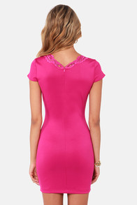 One Rad Girl Isabella Fuchsia Dress at Lulus.com!