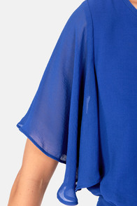 Sly Fox Royal Blue Romper at Lulus.com!