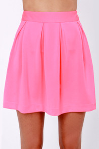 Glows to Show Neon Pink Skirt at Lulus.com!