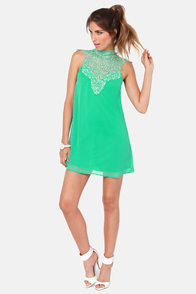Wild at Heart Lace Sea Green Dress at Lulus.com!