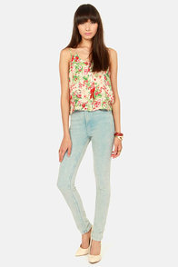 New Orchids on the Block Floral Print Top at Lulus.com!
