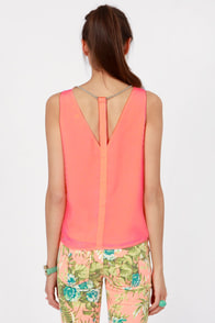 Have a Ball and Chain Neon Coral Top at Lulus.com!