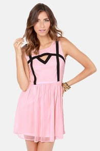 Peek of the Week Pink and Black Cutout Dress at Lulus.com!