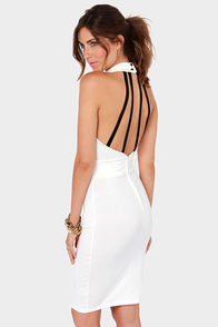 Hear Me Roar Cutout Ivory Midi Dress at Lulus.com!