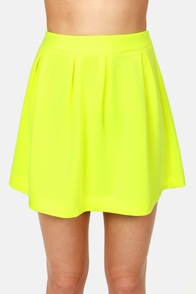 Glows to Show Neon Yellow Skirt at Lulus.com!