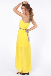 Snake Me Up Before You Go-Go Yellow Maxi Dress at Lulus.com!