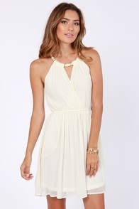 Bring Your Own Bling Ivory Dress at Lulus.com!