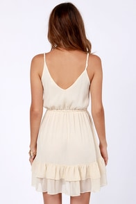 Petal-ing Out Cream Dress at Lulus.com!
