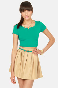 Jersey Devil Teal Crop Tee at Lulus.com!