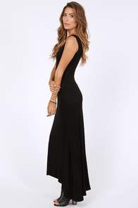 Sing A-long Black Maxi Dress at Lulus.com!