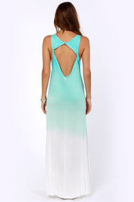 RVCA Dahomey Aqua Blue Ombre Maxi Dress at Lulus.com!