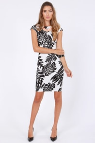 Rubber Ducky Fronds Have More Fun Print Dress at Lulus.com!