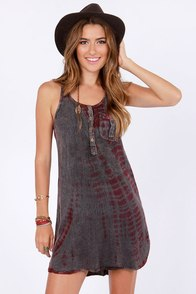 Cosmic Love Washed Magenta Tie-Dye Dress