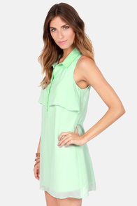 Volcom Little Feather Sleeveless Mint Green Dress at Lulus.com!