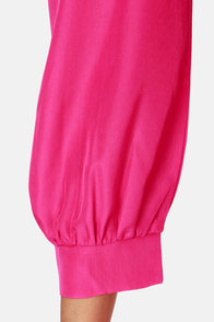 Sorbet-by Doll Fuchsia Shift Dress at Lulus.com!