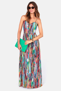 BB Dakota by Jack Bayberry Print Maxi Dress at Lulus.com!