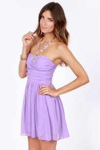 LULUS Exclusive Sash Flow Strapless Lavender Dress at Lulus.com!