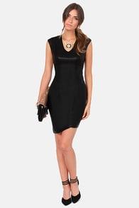 Rad to the Bone Black Vegan Leather Dress at Lulus.com!