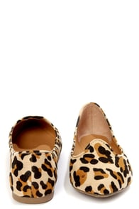 Velma 01 Leopard Print Smoking Slipper Pointed Flats at Lulus.com!