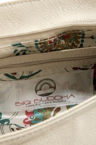 Big Buddha Loomis Cream Purse at Lulus.com!