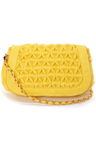 Big Buddha Loomis Yellow Purse at Lulus.com!