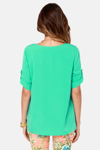 Plain as Day Mint Green Top at Lulus.com!
