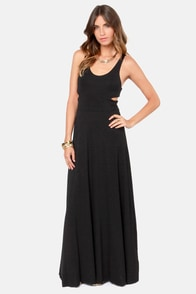 Tall of the Wild Black Maxi Dress at Lulus.com!