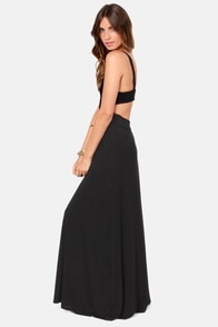 Tall of the Wild Black Maxi Dress