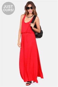 LULUS Exclusive Most Wanted Red Maxi Dress