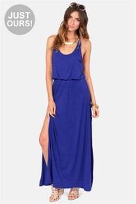 LULUS Exclusive Most Wanted Royal Blue Maxi Dress