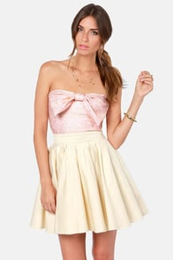 Fleck it Out Pink and Gold Tube Top at Lulus.com!