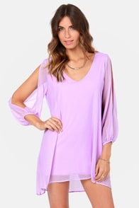Shifting Dears Lavender Long Sleeve Dress