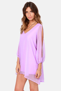Shifting Dears Lavender Long Sleeve Dress at Lulus.com!